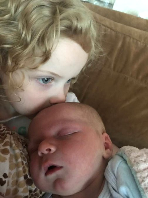 May 28 2017 boy with sister also born at home with Highland Midwife